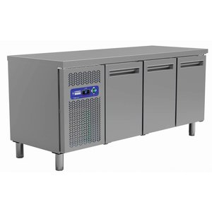 Diamond Koelwerkbank - RVS - 3 deurs - 180x70x(h)88cm - 405 Liter