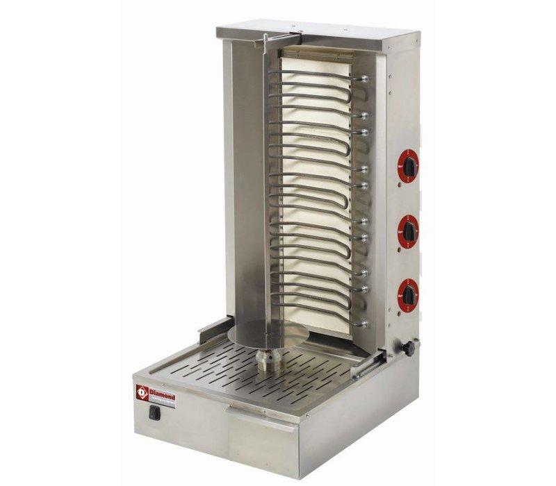 Diamond Kebab spit grill elektrisch 55 kg