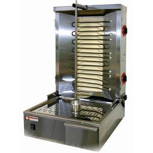 Diamond Kebab spit grill electric 35 kg