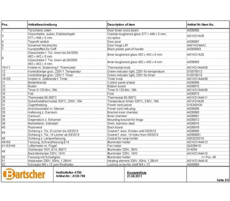 Bartscher Bartscher parts - each part of the brand Bartscher sale