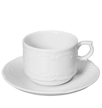 Hendi Dish - 130x20 mm - Flora - For head 120 ml - White - Porcelain