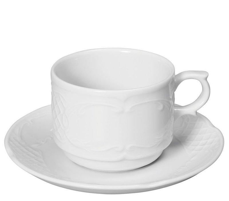 Hendi Dish - 130x20 mm - Flora - Für Kopf 120 ml - Weiß - Porzellan