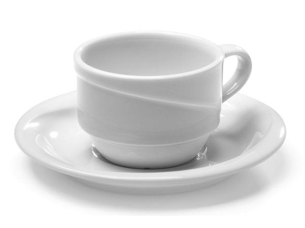 Hendi Mokkakop - 90 ml - Exclusiv - 80x65x45 mm - White - Porcelain