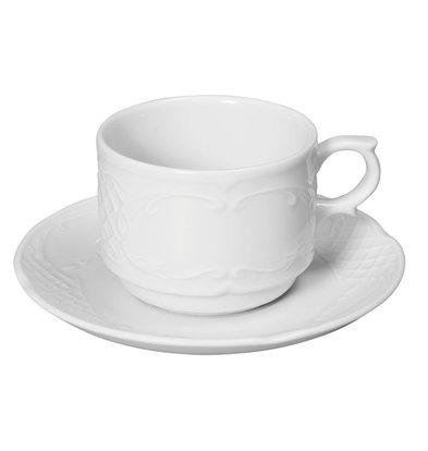 Hendi Dish - 138 mm - Flora - Für Kopf 180ml - Weiß - Porzellan