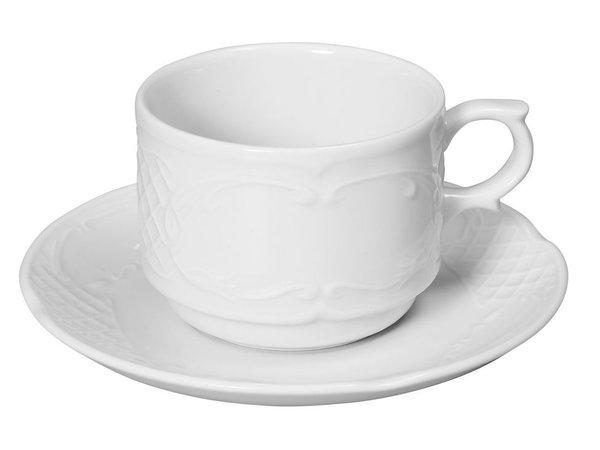 Hendi Schotel - 138 mm - Flora - Voor kop 180 ml - Wit - Porselein