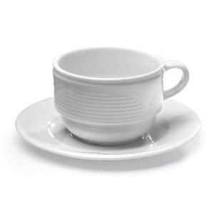 Hendi Schotel voor koffiekop - Saturn - Ø150 mm - Wit - Porselein