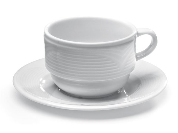 Hendi Saucer for coffee cup - Saturn - Ø150 mm - White - Porcelain
