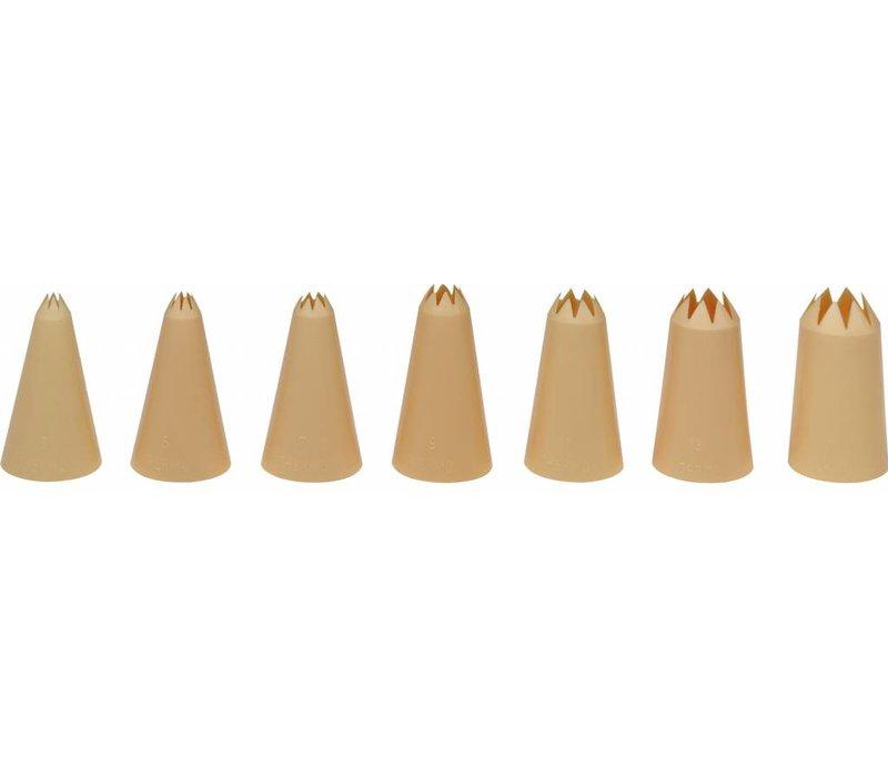 Hendi Spuitmondjes | Set 7 | Nylon Kartel | Ø8,10,12,14,16,18,20mm