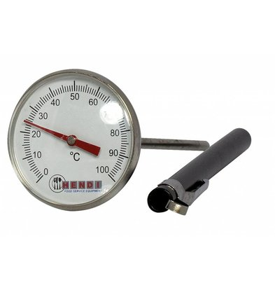 Hendi Pocket-Thermometer - 127 mm - Stahlsonde Edelstahl - 0 bis 100 Grad