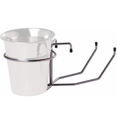 Hendi Wine Cooler-table bracket - chrome - Ø19,5cm x 51 (H) cm