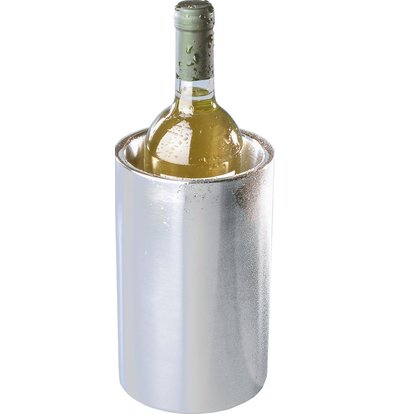 Hendi Double-walled stainless steel wine cooler - Usable Without Ice cubes - Ø12cm x 20 (H) cm