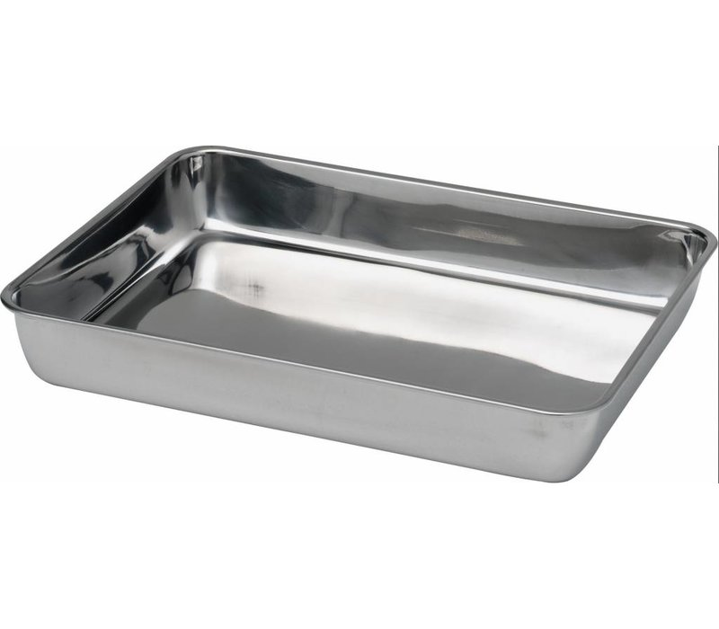 Hendi Stainless steel meat tray | 260x200x (H) 48mm