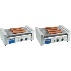 Hendi Sausage Roller Grill 11 Rollers - RVS - 880W - 520x477x (H) 175mm