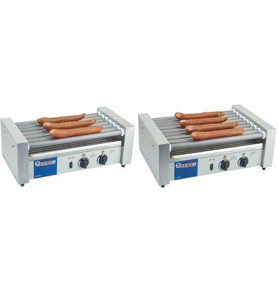 Hendi Sausage Roller Grill 11 Walzen - RVS - 880W - 520x477x (H) 175 mm