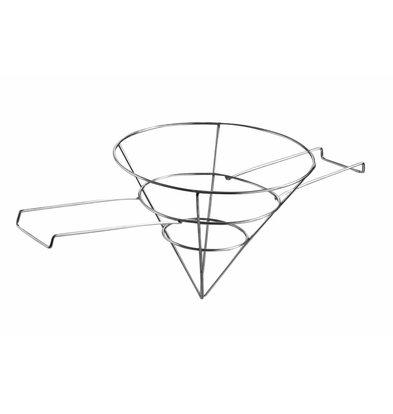 Hendi Vetfilterhouder | RVS | Ø250x(H)200mm