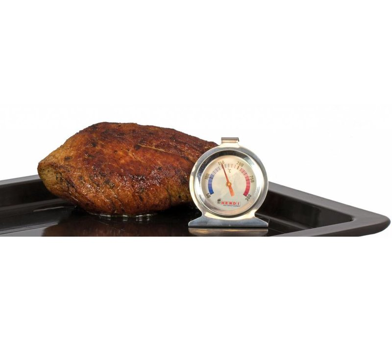 Hendi Oven Thermometer 60x70 mm - Stainless steel housing - 50 to 300 ° C - Ø60x (H) 70mm