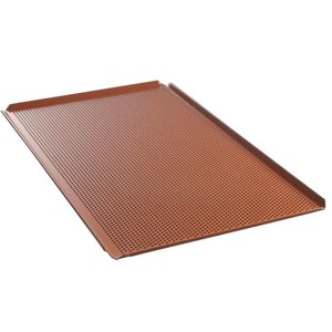 Hendi Tray Aluminium GN 1/1 | Geperforeerd Siliconen Coating | 530x325x(H)10mm