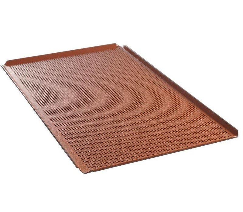 Hendi Aluminiumschale GN 1/1 | Perforierte Siliconbeschichtung | 530x325x (H) 10 mm