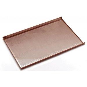 Hendi Bakkersnorm Bakplaat | Aluminium | Geperforeerd + Anti-aanbaklaag | 600x400mm