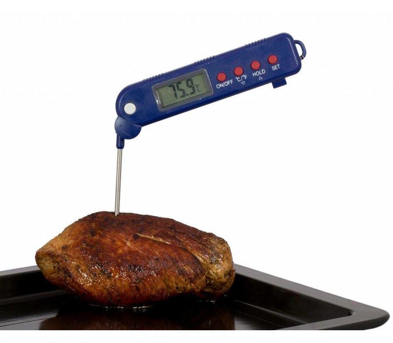 Hendi Klapp-Sonde Fleisch-Thermometer - 130mm Edelstahl-Sonde -50 bis 300gr