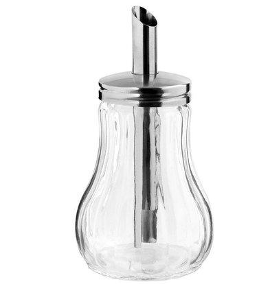 Hendi Zuckerstreuer Glas | Mit Edelstahl Auslauf | 0,2 Liter | Ø80x (H) 140mm