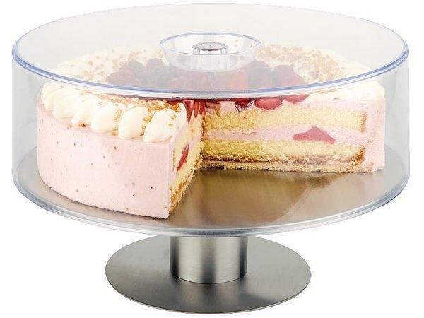 Hendi Edelstahl-Kuchen-Hochebene | Drehwirbel | Ø300x90mm