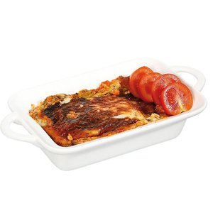 Hendi Tapas Scale / Baking dish - Rectangle with Handles - 100x140x45 mm - White - Porcelain