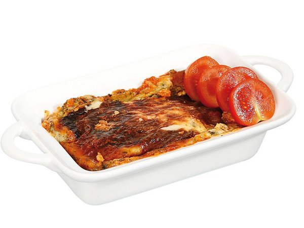 Hendi Tapas Scale / Baking dish - Rectangle with Handles - 100x140x45 mm - White - Porcelain