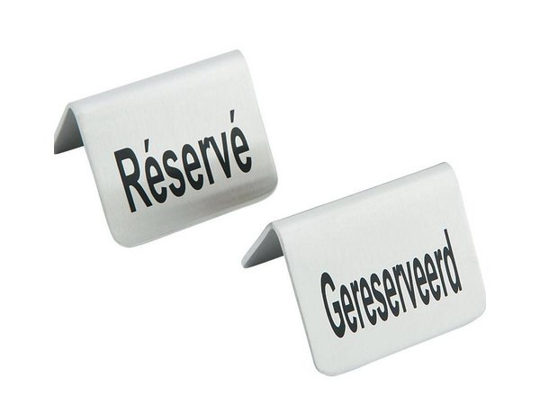 Hendi Reserved Table Stand - Reserve stainless steel 52x40 mm Set 4