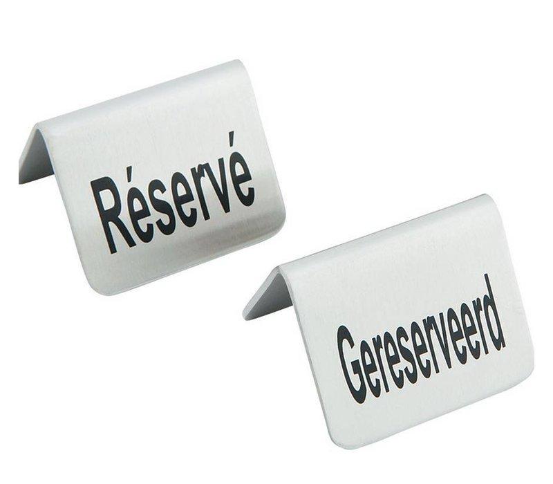 Hendi Reserviert Tabelle Stand - Reserve Edelstahl 52x40 mm Set 4