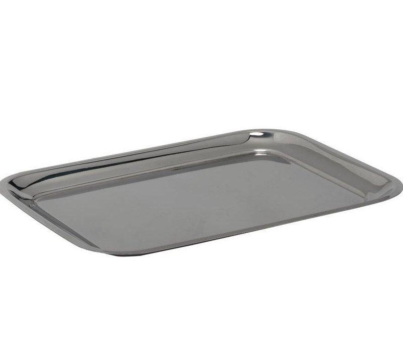 Hendi Serveerblaadje | Steel, chrome | 205x155 mm