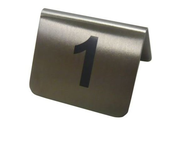 Hendi Table Stand numbers 61-72 - stainless steel 55x52x35 mm set 12