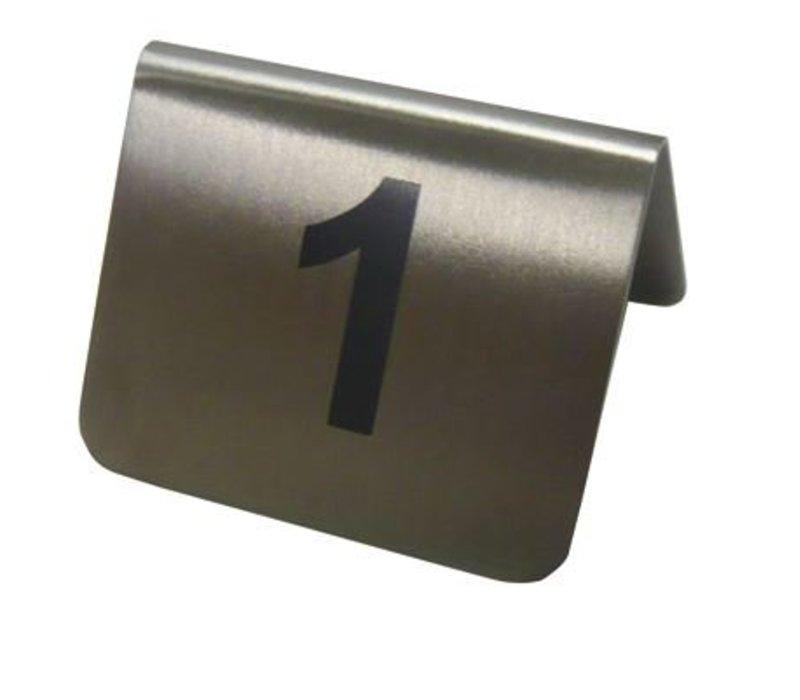 Hendi Table Stand Zahlen 49-60 - Edelstahl 55x52x35 mm 12