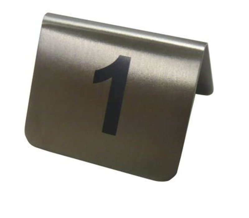 Hendi Table Stand Zahlen 13-24 - Edelstahl 55x52x35 mm 12