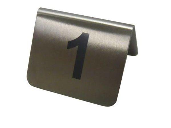 Hendi Tafelstandaard nummers 1 - 12 - rvs 55x52x35 mm set 12