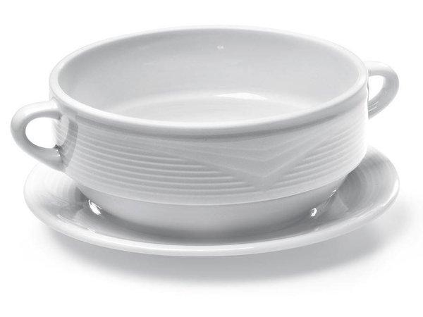 Hendi Dish 180x20 mm - Saturn - Ø190 mm - For soup bowl - White - Porcelain