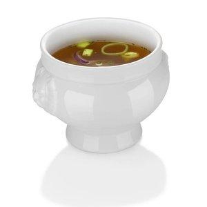 Hendi Suppenschüssel - 125 ml - Lionhead - 90x60 mm - Weiß - Porzellan