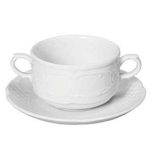 Hendi Dish 158x20 mm Flora - for 250 ml cup / bowl of soup po.