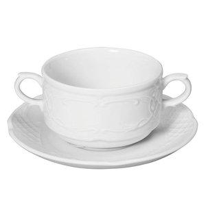 Hendi Dish 158x20 mm Flora - für 250 ml Becher / Teller Suppe po.