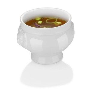 Hendi Suppenschüssel - 500 ml - Lionhead - 138x95 mm - Weiß - Porzellan
