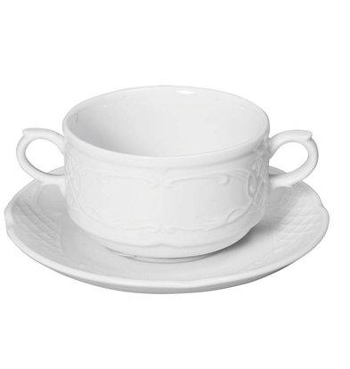 Hendi Suppenschale - 250 ml Flora - 99x147x62mm - Weiß - Porzellan