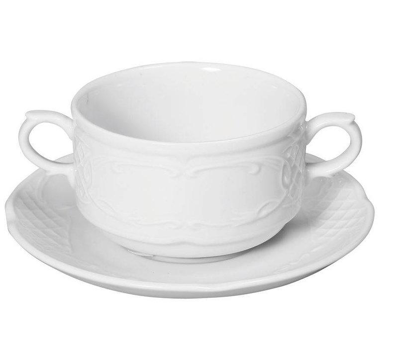 Hendi Soup bowl - 250 ml Flora - 99x147x62mm - White - Porcelain