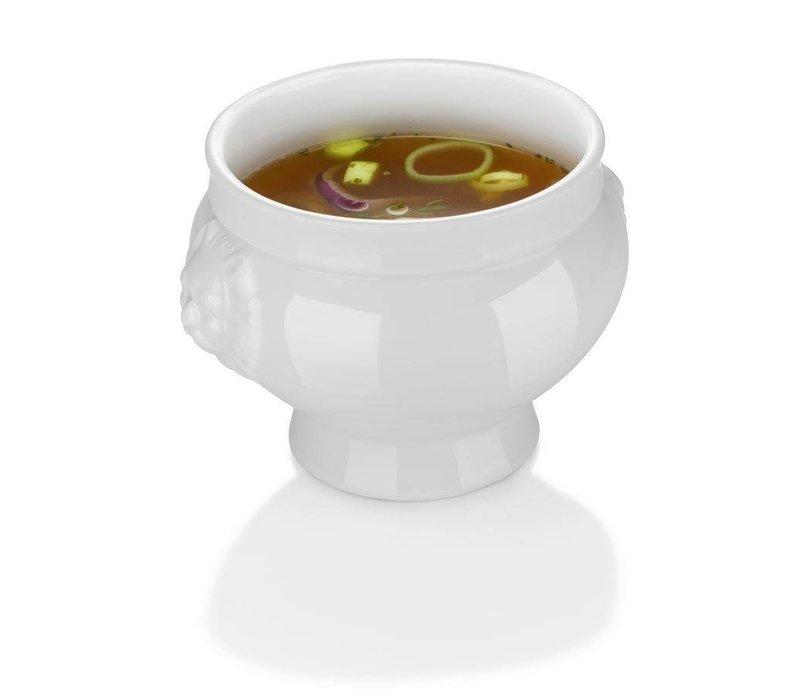 Hendi Tureen - 2000 ml - Lionhead - 215x155 mm - White - Porcelain