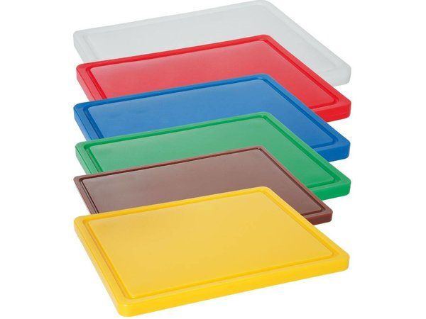 Hendi Cutting boards 1/1 GN - 530x325x (H) 15mm - HDPE 500-6 Colours