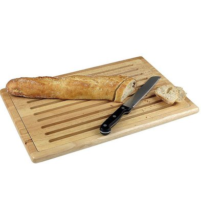 Hendi Cutting board with uitn.raster wood - non-slip feet +4 475x322 mm