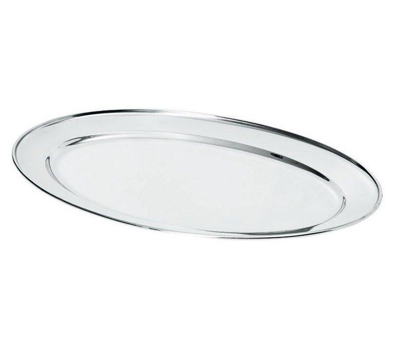 Hendi Fleisch-Teller aus Edelstahl   300x220mm