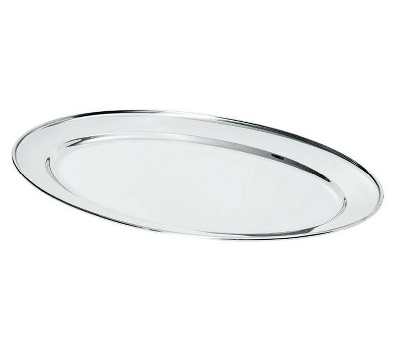 Hendi Fleisch-Teller aus Edelstahl | 400x260mm