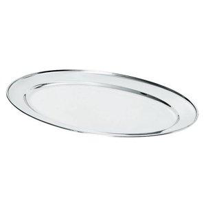 Hendi Fleisch-Teller aus Edelstahl   500x350mm
