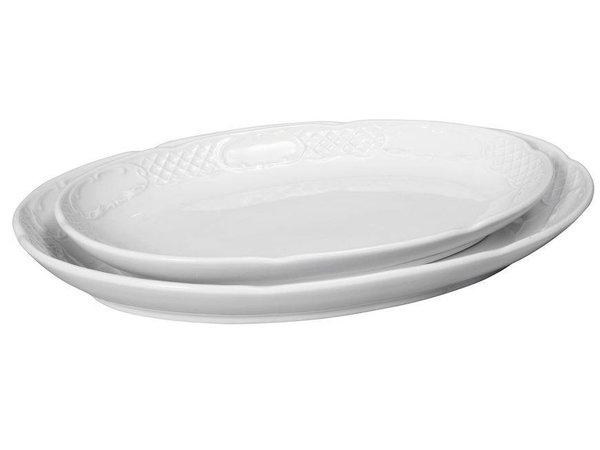 Hendi Scale oval - Flora - 288x180x35 mm - White - Porcelain