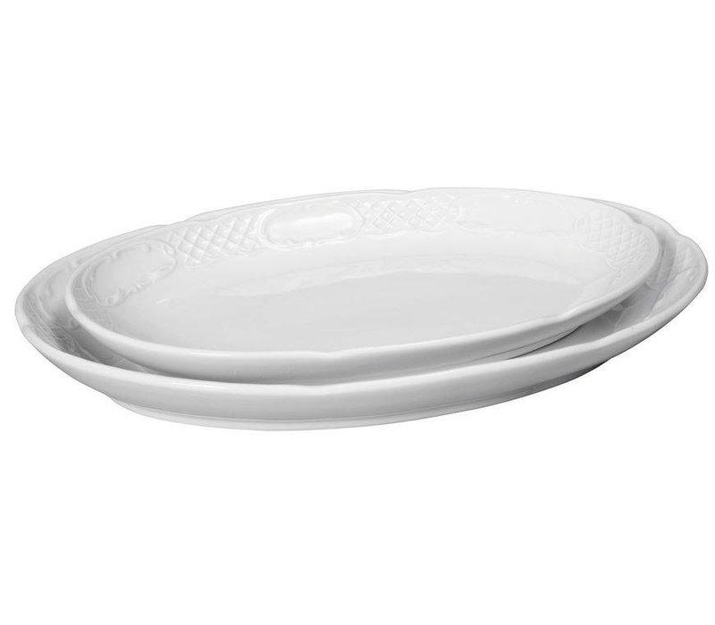 Hendi Maßstab oval - Flora - 288x180x35 mm - Weiß - Porzellan